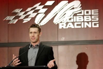 Carl Edwards announces his plans to stop racing (Bob Leverone/NASCAR via Getty Images Photo)