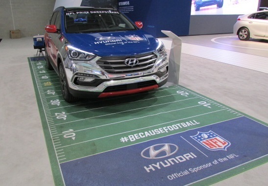 Hyundai builds the official CUV of the NFL.  (Mike Twist Photo)
