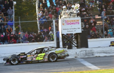Doug Coby wins at Thompson in the #2.  (NASCAR Photo)