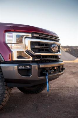 The new factory winch available on Ford F Series trucks.  (FoMoCo Photo)